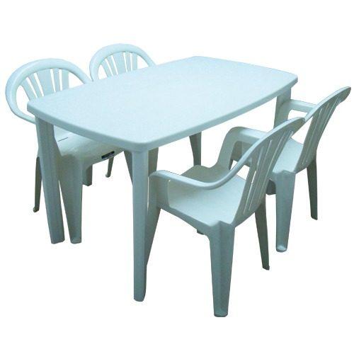 juego de mesa sillones plsticos para jardin