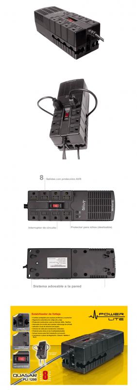 Comprar Estabilizador de corriente Quasar1200
