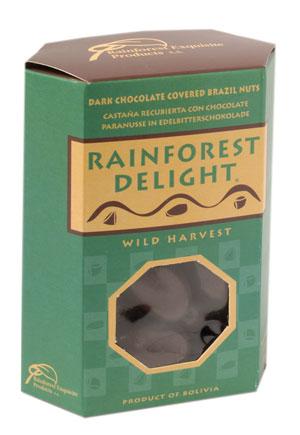 Comprar RAINFOREST DELIGHT Dark chocolate covered brazil nuts