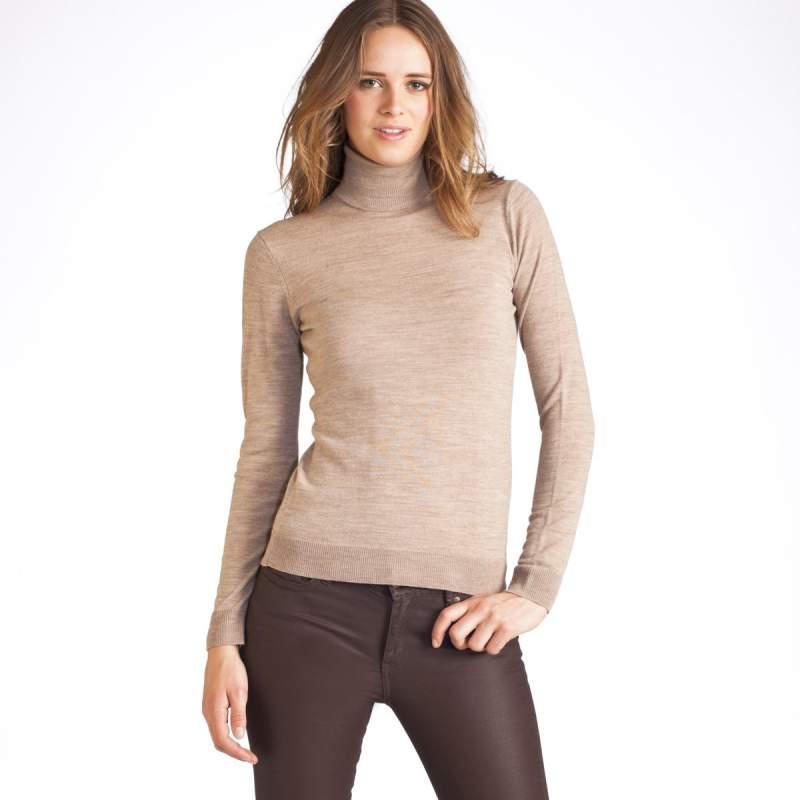 Comprar Jersey de cuello vuelto de pura lana merina