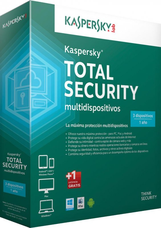Kaspersky Total Security 3PC licencia 1año
