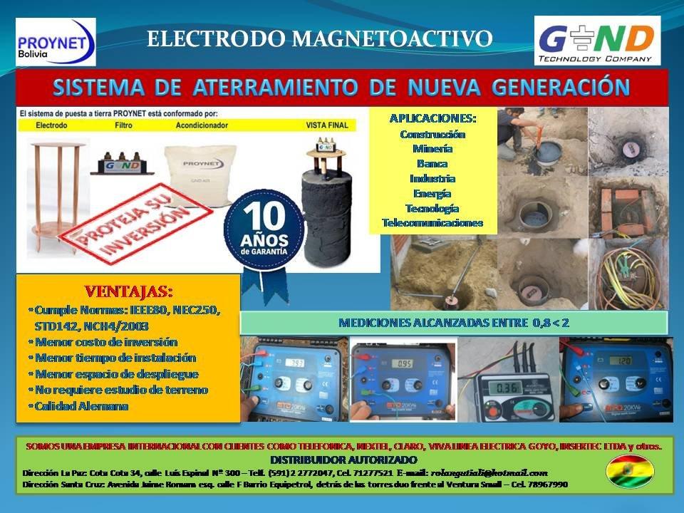 Comprar PROYNET Sistema de Tierra Magneto Activo