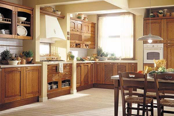 购买天然木材厨房家具