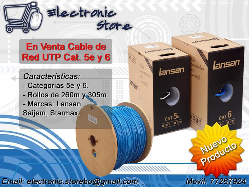 Comprar Cable de Red UTP Cat 5e y 6