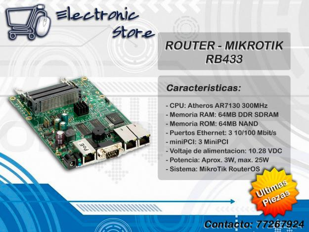 Comprar ROUTER - MIKROTIK R8433