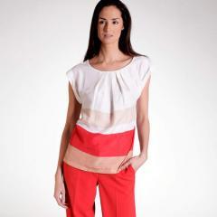 Blusa sin mangas de seda y algodón