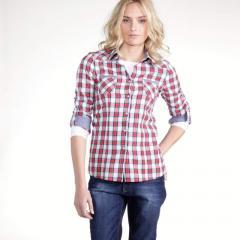 Camisa a cuadros 100% algodón