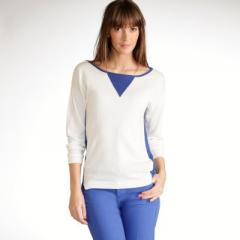 Jersey bicolor de manga larga