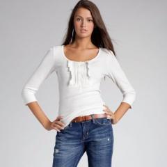 Camiseta con manga 3/4 punto algodón