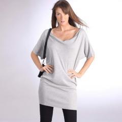 Jersey-túnica escote drapeado