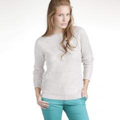 Jersey-túnica manga larga punto metalizado