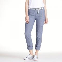 Pantalón slim a rayas, entrepierna 83 cm