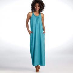 Vestido largo escote trenzado