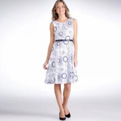Vestido de satén de algodón