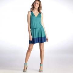 Vestido bicolor q1