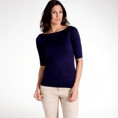 Jersey con cuello barco, 100% algodón light