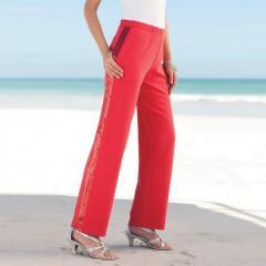 Pantalón sportswear con lentejuelas