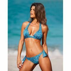 Braguita bikini estampada con vuelta combinable
