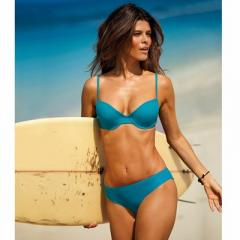 Sujetador de bikini de triángulos, liso combinable