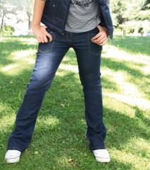 Pantalon largo vaquero jeans mujer elastico