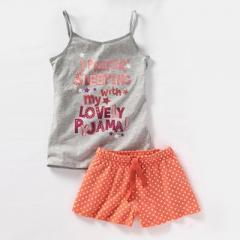 Pijama con pantalón corto chica