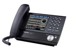 Teléfono-IP Panasonic con pantalla táctil a color