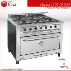 Cocina 6 Hornallas  Nova 1100 CE 340