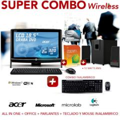 PC AIO + OFFICE2010 + PARLANTES + TECLADO Y MOUSE