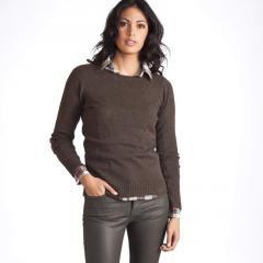 Jersey con escote redondo 50 % lana de oveja