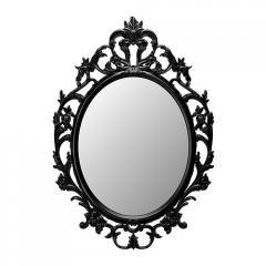 Espejo, ovalado, negro, Ung Drill