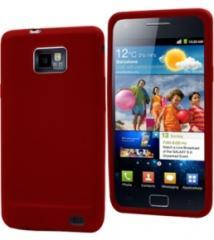Muvit Funda Silicona Samsung Galaxy S II Rojo