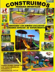 Equipamiento de parques infantiles toboganes