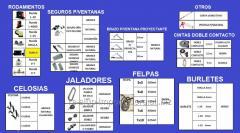 ACCESORIOS VARIOS PARA LAS DIFERENTES LINEAS DE