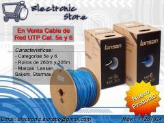 Cable de Red UTP Cat 5e y 6