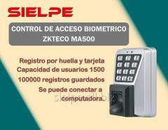 CONTROL DE ACCESO BIOMETRICO MA500 KZTECO