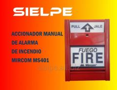 Jalador manual de incendio mircom ms401