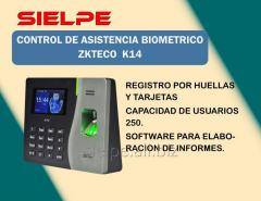 CONTROL DE ASISTENCIA BIOMETRICO ZKTECO MODELO K14