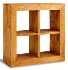 Librero Cubo Doble 4 Huecos