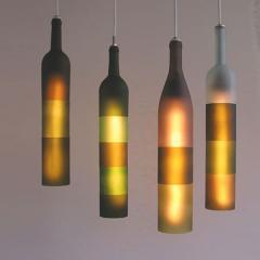 Lq11ámparas con botellas