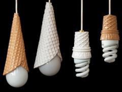 Lámparas con forma de helado