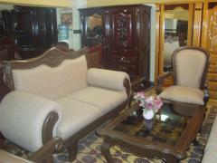 Mueble de sala de piel