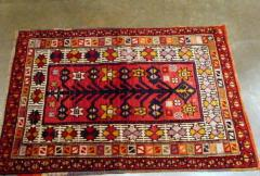 3x4 Antique Anadol Rug red Turkish 80 Years Old