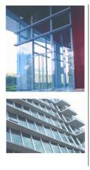 Perfil de aluminio Frente vidriado