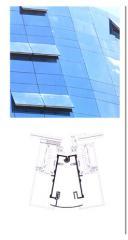 Perfil de aluminio Piel de vidrio