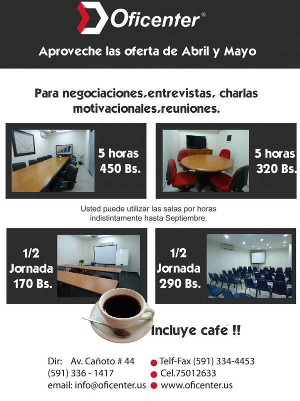 Pedido ALQUILER DE SALAS Y OFICINAS