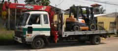 Servicio de camión plancha - grúa de 3 tn.