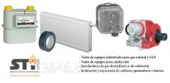 Venta de equipos e instalaciones de gas natural y GLP doméstico, comercial e industrial, materiales de protección anticorrosiva