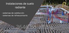 Venta de equipos e instalaciones de calefacción hidrónica con agua caliente a través de radiadores o suelo radiante con tuberías PEX,